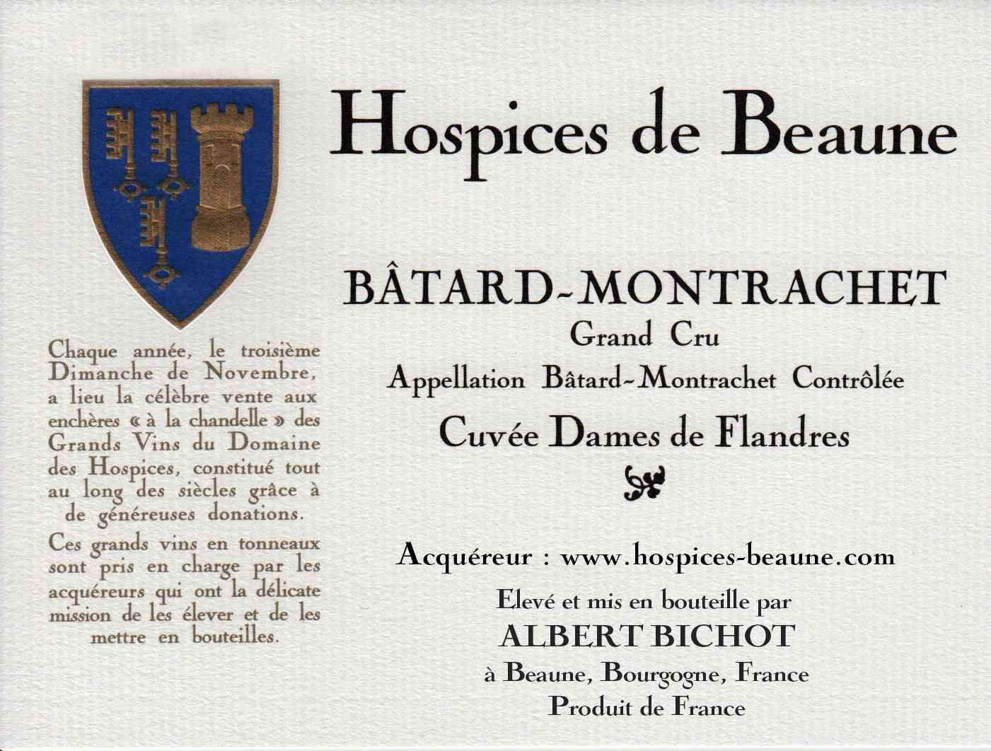 Encheres-auction-HospicesdeBeaune-AlbertBichot-BatardMontrachet-GrandCru-Cuvee-DamesdeFlandres