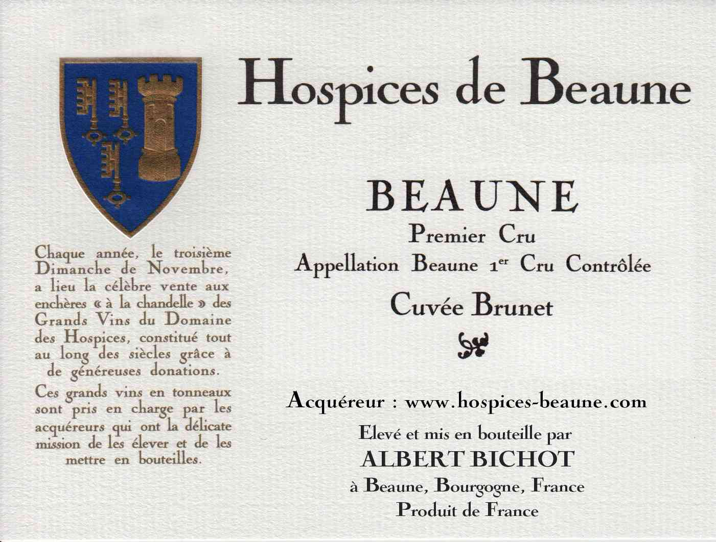 Encheres-auction-HospicesdeBeaune-AlbertBichot-Beaune1erCru-Cuvee-Brunet