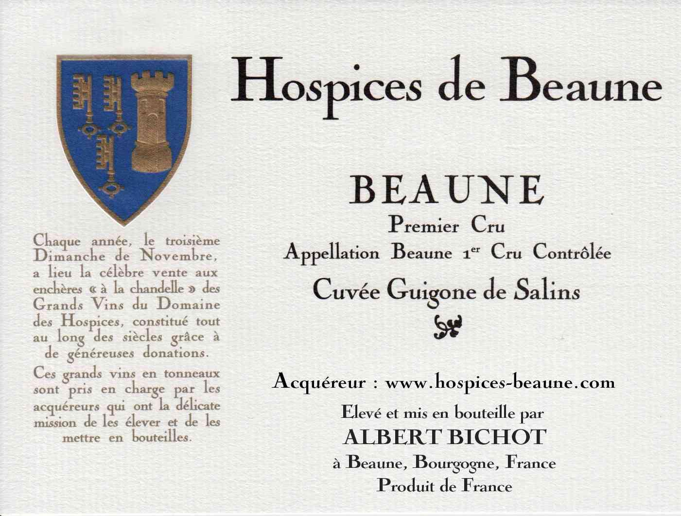 Encheres-auction-HospicesdeBeaune-AlbertBichot-Beaune1erCru-Cuvee-GuigonedeSalins