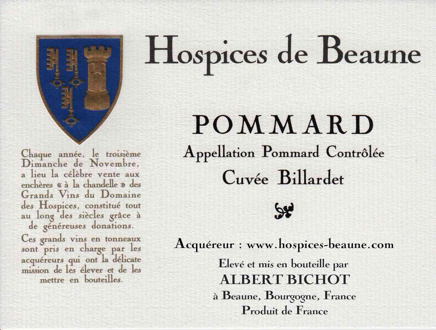 Encheres-auction-HospicesdeBeaune-AlbertBichot-Pommard-Cuvee-Billardet