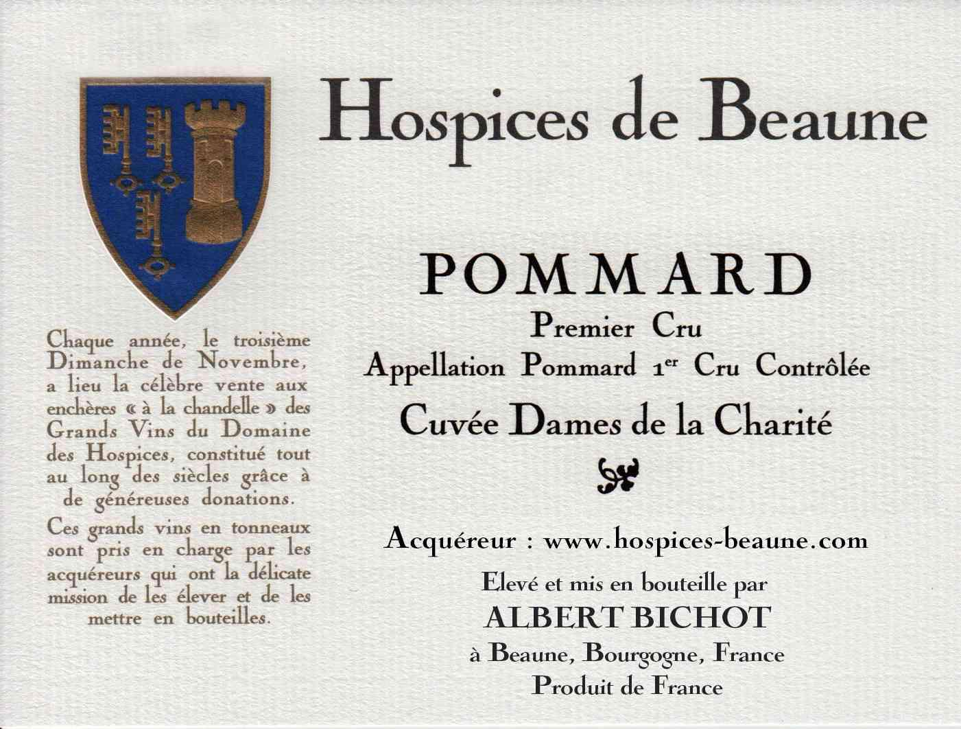 Encheres-auction-HospicesdeBeaune-AlbertBichot-Pommard-PremierCru-Cuvee-DamesdelaCharite