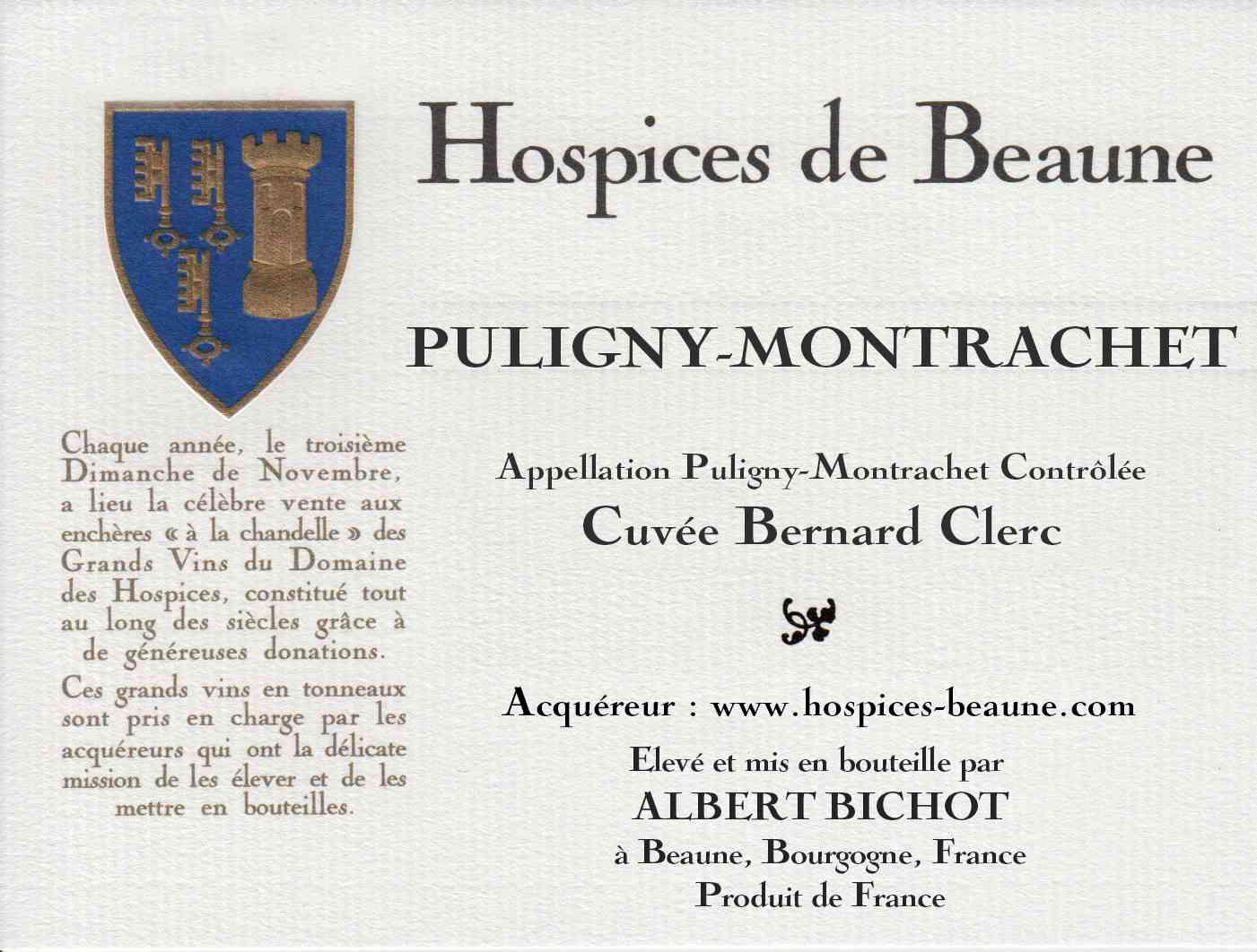 Encheres-auction-HospicesdeBeaune-AlbertBichot-SantenayPremierCru-PulignyMontrachet-cuvee-BernardClerc