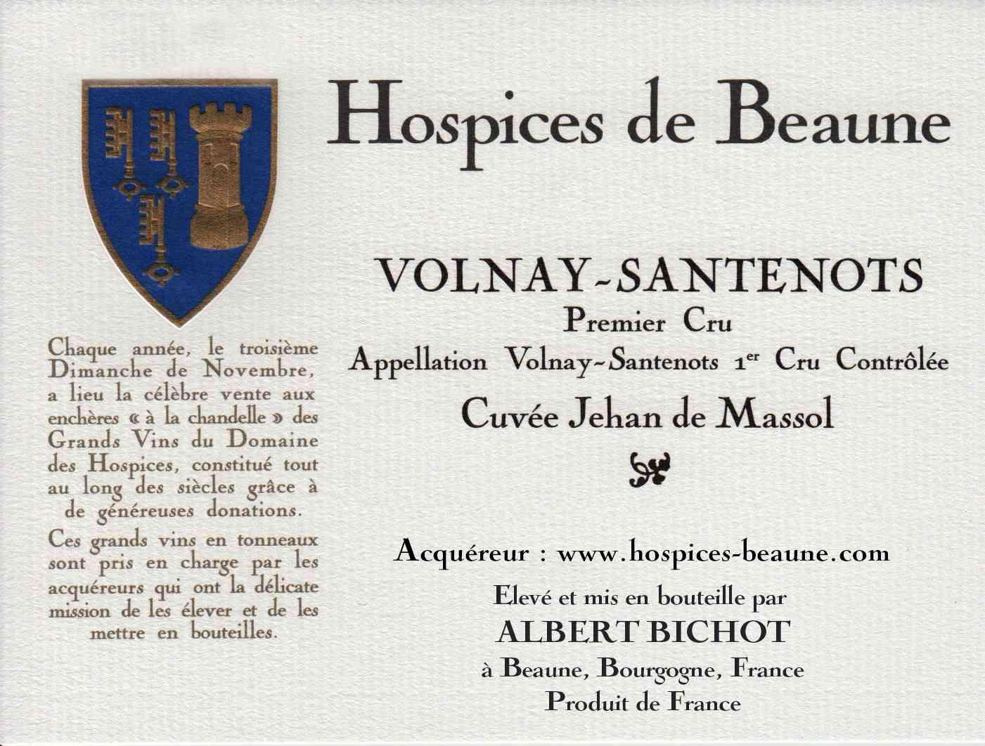 Encheres-auction-HospicesdeBeaune-AlbertBichot-VolnaySantenots-PremierCru-Cuvee-JehandeMassol